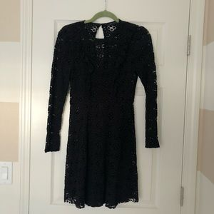 New Zara sweet casual black lace dress